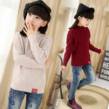 лучшая цена Teenage Girls Sweaters Autumn 2019 New Girl Long Sleeve Knitted Clothes Kids Spring Fall Sweater For Girls High Quality 5-13 Y