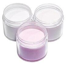 3 цвета 1 ПК акрил пудра для ногтей искусство полимер советы строитель розовые прозрачные белые ногти профессиональные акриловые ногти порошки жидкость