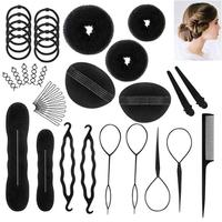 hair design Complete DIY Easy Use helpful Hair Styling Clips Bun Makers Twist Braid Ponytail Tools Accessories Bun Making Tool