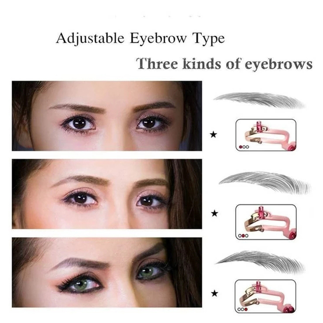 Adjustable Eyebrow Shapes Stencil 3 In 1 Portable Handheld Eyebrow Makeup Model Template Tool Drop Shipping 2