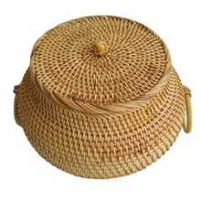 Autumn Rattan Tea Cans Best Selling Loose Tea Storage Box High-End Handmade Pastoral Style Natural Material Snack Box