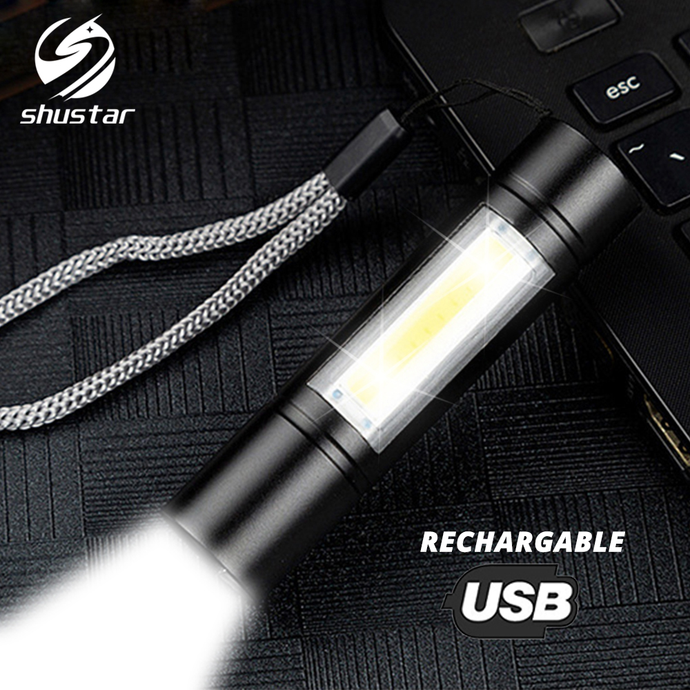 Permalink to USB Rechargeable Flashlight 3 Lighting Mode COB+XPE LED Mini Flashlight Waterproof Portable Used for camping cycling work etc