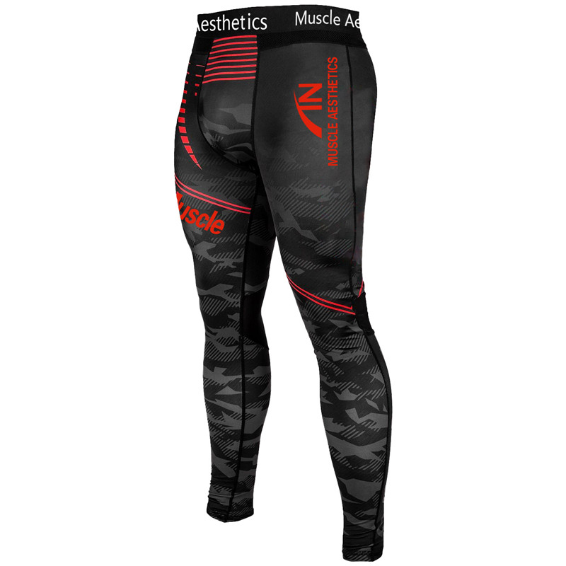 Men Compression Tights Leggings Run Jogging Sports Men Skinny Pants Quick Dry Yoga Pants Men Soccer Training Camouflage Pants