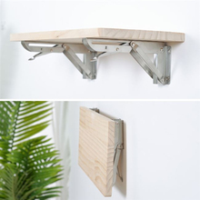 2PCS,250-500mm Length Stainless Steel Heavy Duty Wall Mount Folding Table Bench Rack Shelf Bracket With Install Parts For Table