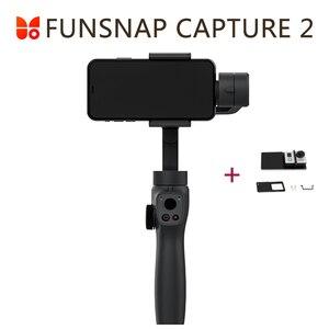 Image 1 - Funsnap yakalama 2 el Gimbal sabitleyici Smartphone GoPro 7 XiaoYi 4k eylem kamera değil DJI OSMO 2 ZHIYUN FEIYUTECH