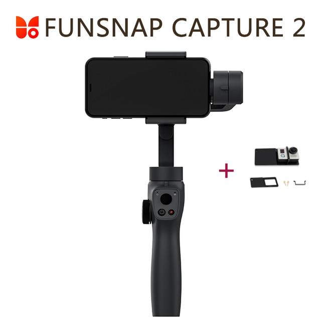 Funsnap yakalama 2 el Gimbal sabitleyici Smartphone GoPro 7 XiaoYi 4k eylem kamera değil DJI OSMO 2 ZHIYUN FEIYUTECH