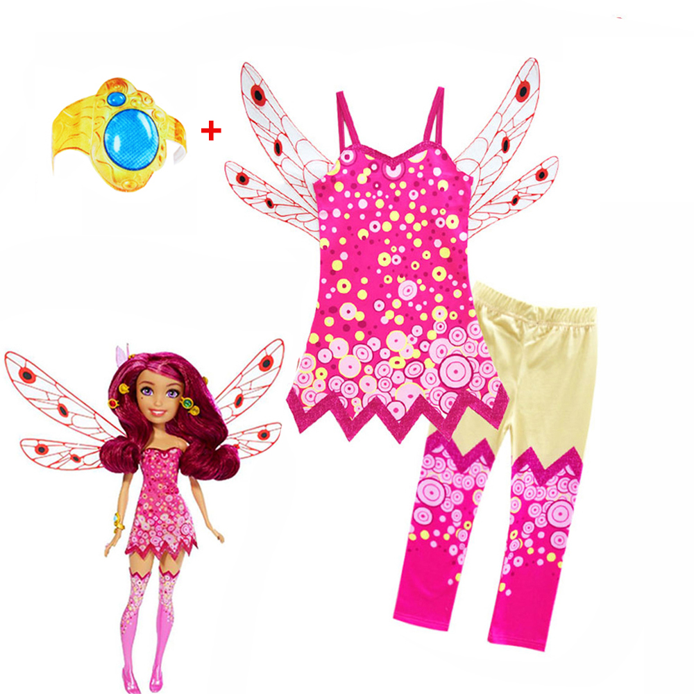 2019 Children Clothing Sets MIA Halloween Cosplay Costumes Girls Kids MIA AND ME Birthday Party Carnival Clothes Mia Hand Ring