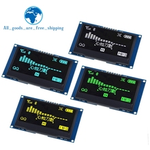 "TZT 2.42 ""schermo LCD da 2.42 pollici bianco giallo 128x64 modulo Display OLED IIC I2C SPI seriale per C51 SPD0301"