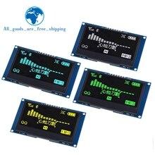 """TZT pantalla LCD de 2,42 """"y 2,42 pulgadas, módulo de pantalla OLED IIC I2C SPI Serial, color blanco, amarillo, 128x64, para C51 SPD0301"""