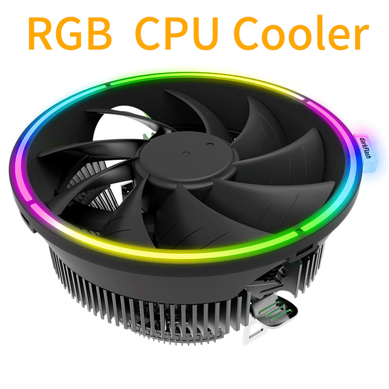 RGB CPU Cooler Led Air Heatsink Intel AMD PC Processor Desktop Cooling Fan