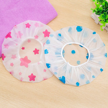 2019 best-selling 1PC cute and stylish waterproof shower cap, thick stretch suitable for ladies hair salon bathroom