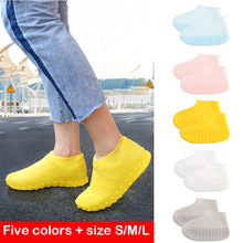 1 Pair Of Waterproof Shoe Covers Reusable Silicone Rain Boots Outdoor Fishing Non-slip Childrens Shoes