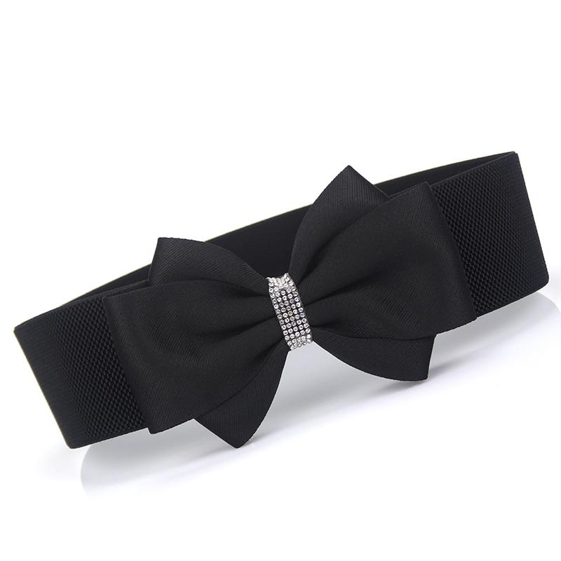 2020 New Design Bow Elastic Corset Belt Tide High Fashion Belts For Women All-match Solid Belt Stylish Waistband Female ZK940