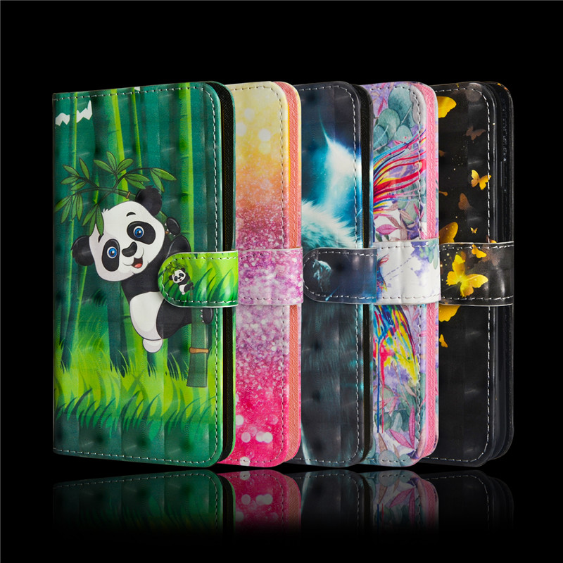 Flip PU Leather Case for Fundas <font><b>Oneplus</b></font> 8 Pro One plus 7T Pro <font><b>Oneplus</b></font> <font><b>6</b></font> 7 Pro Case Cover <font><b>3D</b></font> Panda Wallet Cover Mobile Phone Bag image