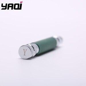 Image 2 - Yaqi ขวดสีเขียวและสีโครเมี่ยมทองเหลืองความปลอดภัยมีดโกน