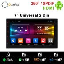 Ownice K1 K2 K3 2G RAM Octa Core Android 10.0 hỗ trợ 4G LTE Mạng DAB + Đài Phát Thanh 2 DIN đa năng Ô Tô Xe Máy DVD GPS NAVI DVD