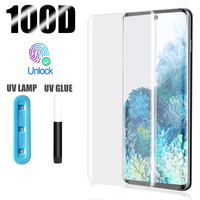 Cristal templado UV para OnePlus 8 Pro 7Pro, Protector de pantalla para Oneplus 7 Pro 8, pegamento total líquido Curvo