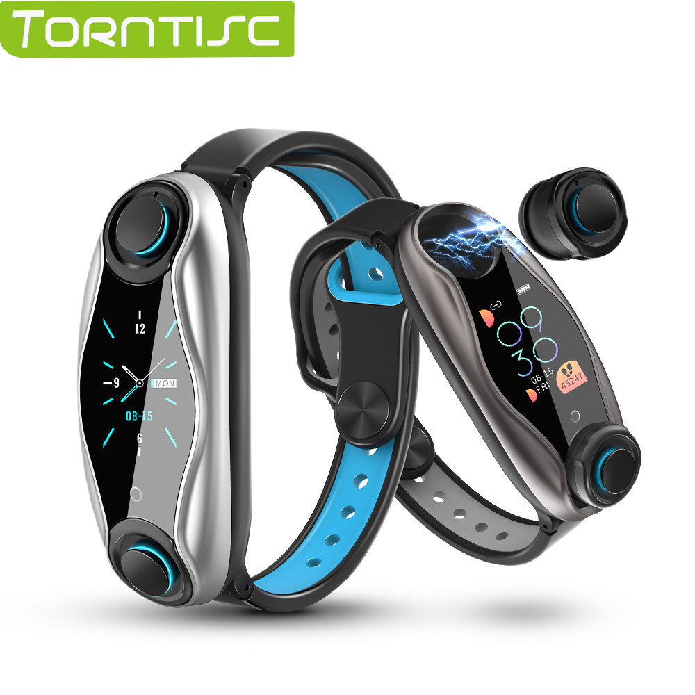 Torntisc Newest AI Smart Watch With Bluetooth Earphone Heart Rate Monitor Smart Wristband Long Time Standby Sport Watch Men|Smart Watches|   - AliExpress