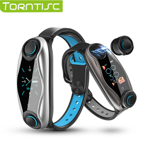 Torntisc Newest AI Smart Watch With Bluetooth Earphone Heart Rate Monitor Smart Wristband Long Time Standby Sport Watch Men(China)