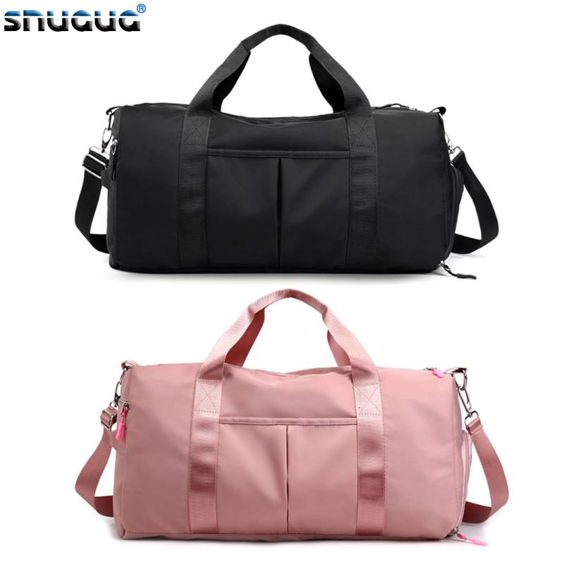 Waterproof Gym Bag Outdoor Black Pink Sport Bags For Shoes New Handbags Shoulder Bags Women Large Travel Bags Men Fitness Bag