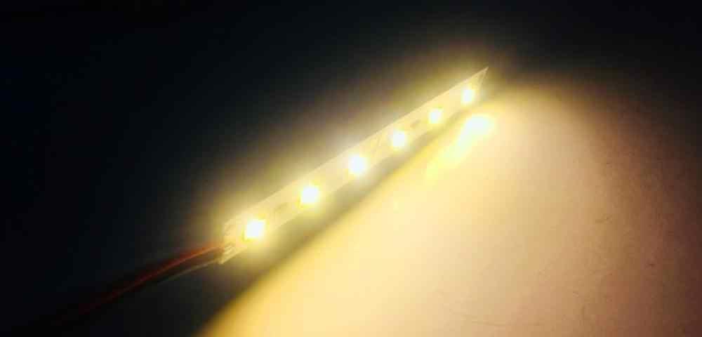 100PCS LED 바 빛 12V 24V 6LED 8CM 1W 캐비닛 LED 하드 스트립 모듈 쇼케이스 기계 보드 공장에 대 한 레드/그린/블루/화이트