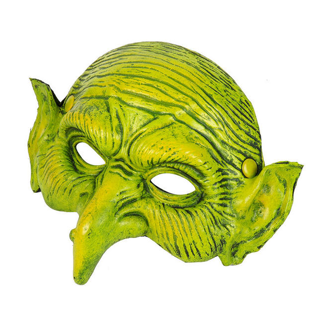 Halloween Green Witch Mask