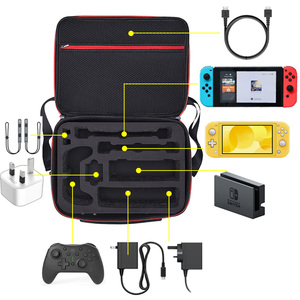 Image 3 - Bevigac Portable Travel Carrying Case Storage Messenger Bag Organizer with Shoulder Strap for Nintendo Switch Lite Accessories