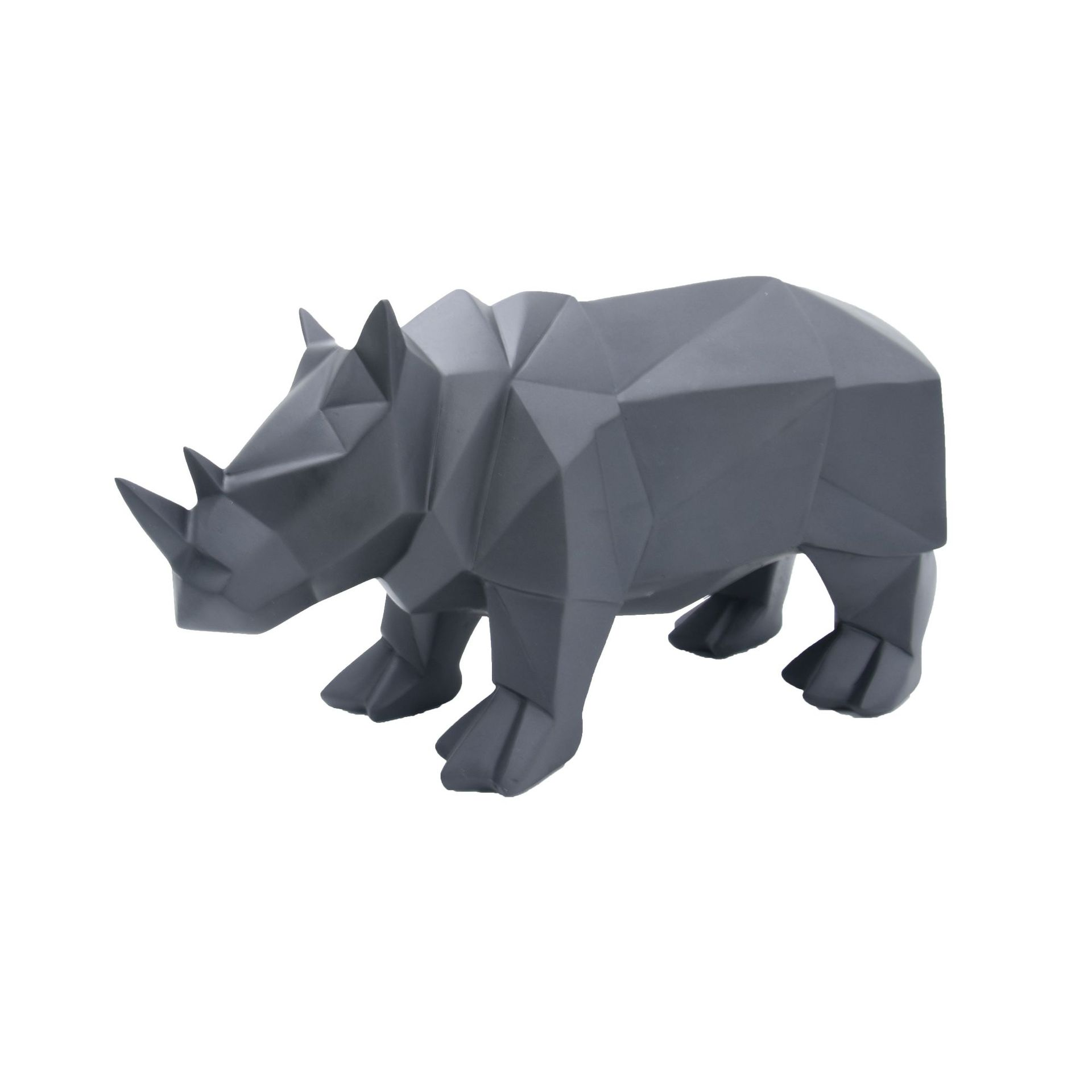 Rhinoceros Resin Statues For Decoration Abstract Geometric Resin Sculpture Animal Figurine Home Decoration Accessories Modern