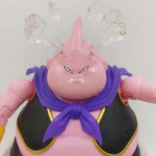 Tronzo D B Z Super SHF Majin Buu Zen Ver. Remplacer la tête en colère sculpter la fumée effet accessoires figurine modèle jouets cadeau