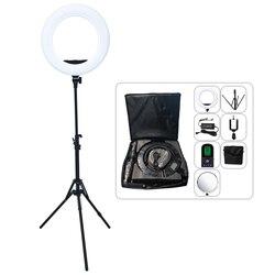 Yidoblo AX-480EII Lamp Camera Photo Studio Phone USB Charger Video 18inch 240PCS LED Ring Light Warm & Cold Color Ring Lamp Kit