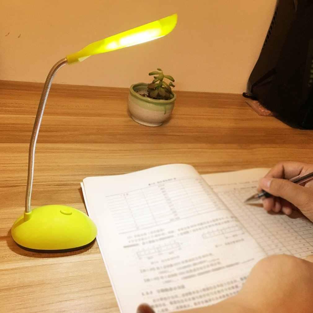 Lámpara LED plegable portátil de escritorio para niños, protección ocular, lámpara LED de mesa para estudio, lectura, estudiantes, funciona con batería