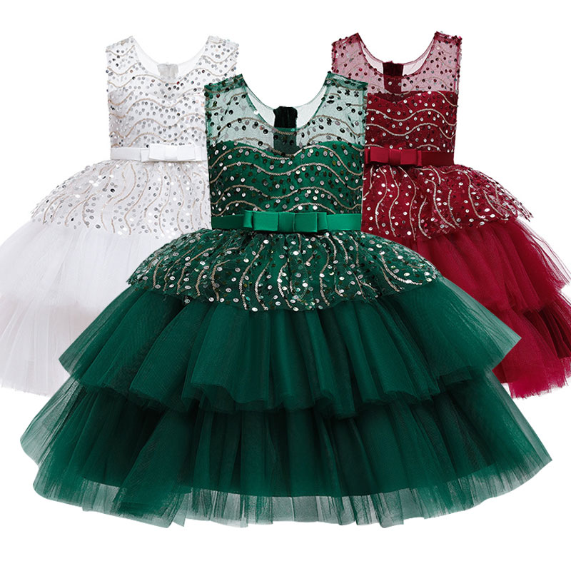 Girls School Party Hosts Events Representing Formal Children's Elegant Dresses Suitable For Children Aged 3-10