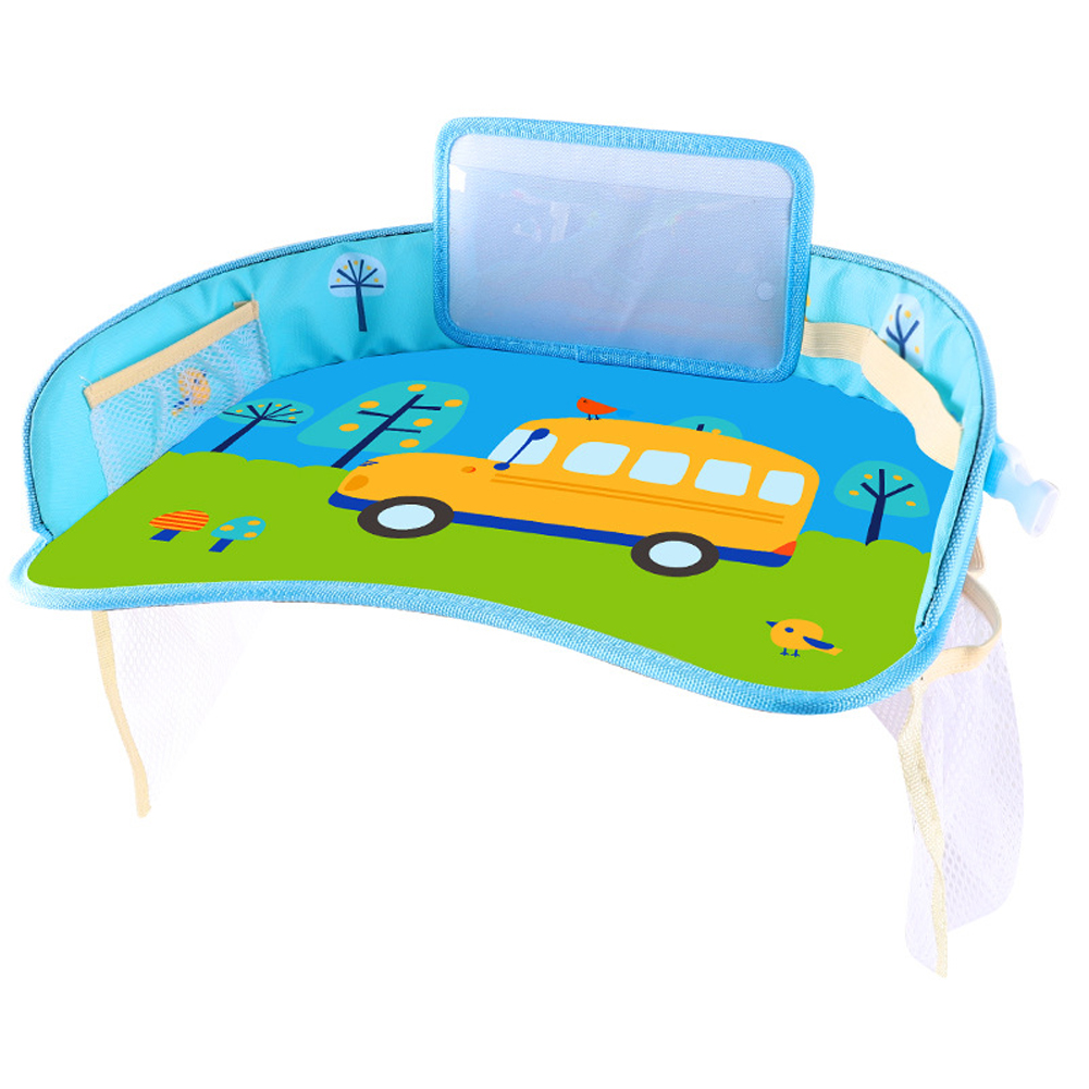 Safety Seat Tray Stroller Durable Water Holder Food Travel Drawing Waterproof Plate Cartoon Pattern Tablet Storage Infant Car