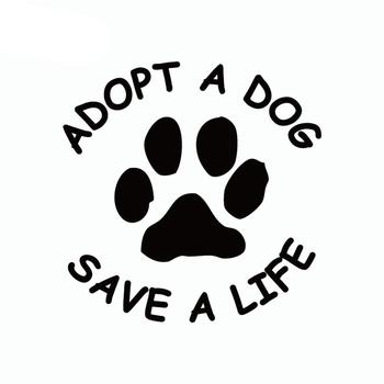 50% HOT SALES!!!New Arrival Adopt A Dog Save A Life Letter Pattern Auto Car Door Sticker Decal Decoration image