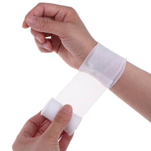 Cotton PBT Elastic Bandage Skin Friendly Breathable First Aid Kit Gauze Wound Dressing Medical Nursing Emergency Care Bandage 5