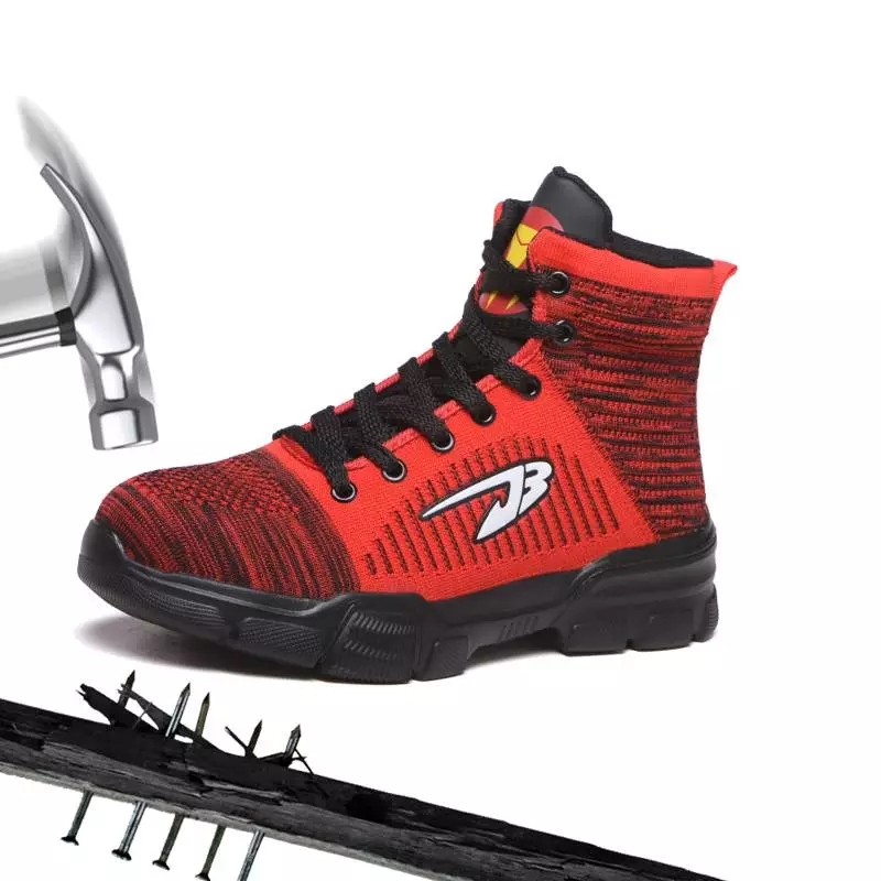 Men And Women's Fashion Outdoor Steel Toe Work Shoes Men Puncture Proof Safety Boots Shoes Suit For Winter(China)