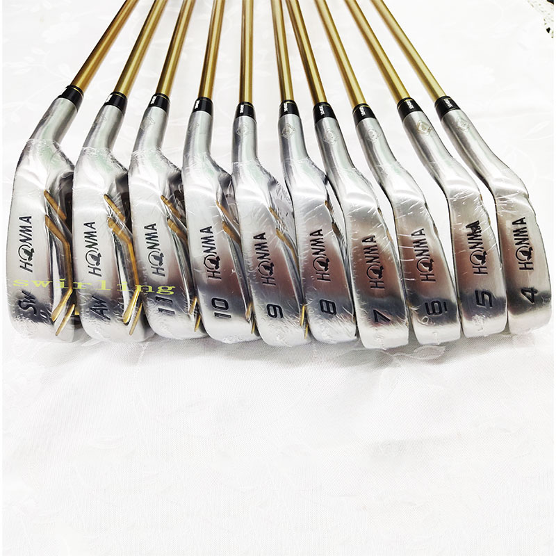 New Golf Club Honma S-06 4-star Iron Set 4-11 AW SW R S Graphite Shaft Swirling Free Shipping