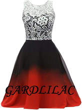 Gardlilac 2020 черно красное кружево Омбре вечернее платье для