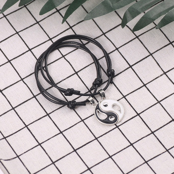 Bracelet Yin Yang Couple noir