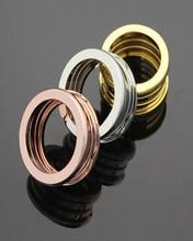 Original high-end titânio aço anel de mola para homens e mulheres marca de moda jóias bv anel de noivado anel de festa entrega gratuita