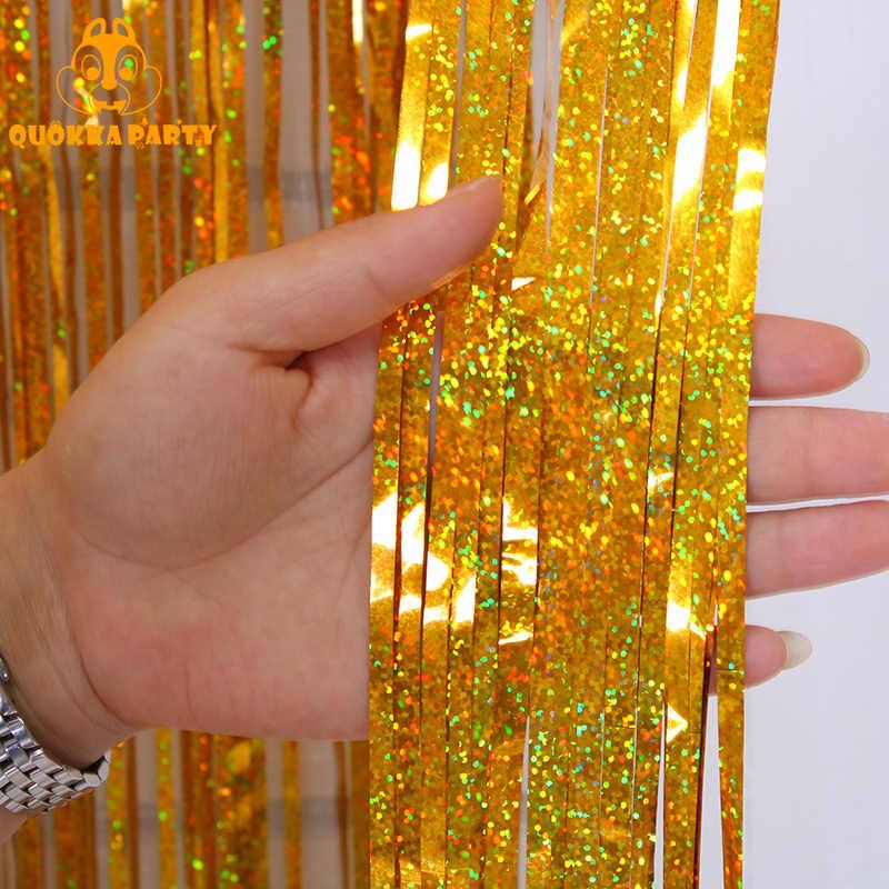 Fondo fiesta boda cortina Rosa franja de oropel hoja cortinas decoraciones para fiesta de cumpleaños brillo foto con purpurina telón de fondo con cabina