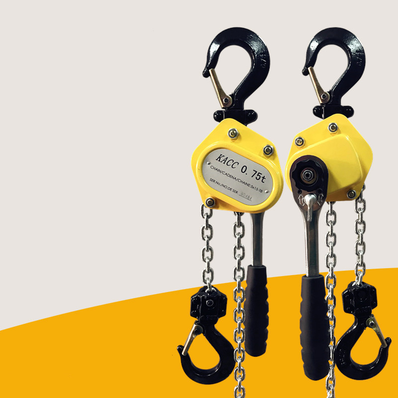KACC Mini Hand Chain Hoist Hook Mount 0.25/0.5 Ton Capacity 3Meter Lift CE Certificate Portable Manual Lever Block Lifting