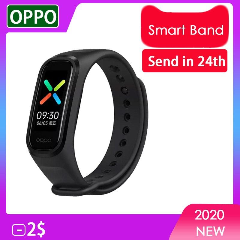 Новое Поступление Смарт-браслет OPPO Band 2 цвета AMOLED экран Smartband фитнес-тренер Bluetooth спортивный водонепроницаемый смарт-браслет