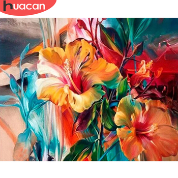 HUACAN Paint By Number Flower HandPainted DIY Gift Kit Drawing On Canvas Oil Painting Picture Wall Art Home Decoration - discount item  40% OFF Arts,Crafts & Sewing
