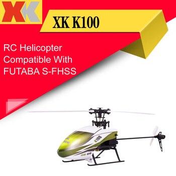 Wltoys-helicóptero XK K100 6CH 3D 6G, juguete con Control remoto, Motor sin escobillas, BNF, Compatible con FUTABA S-FHSS