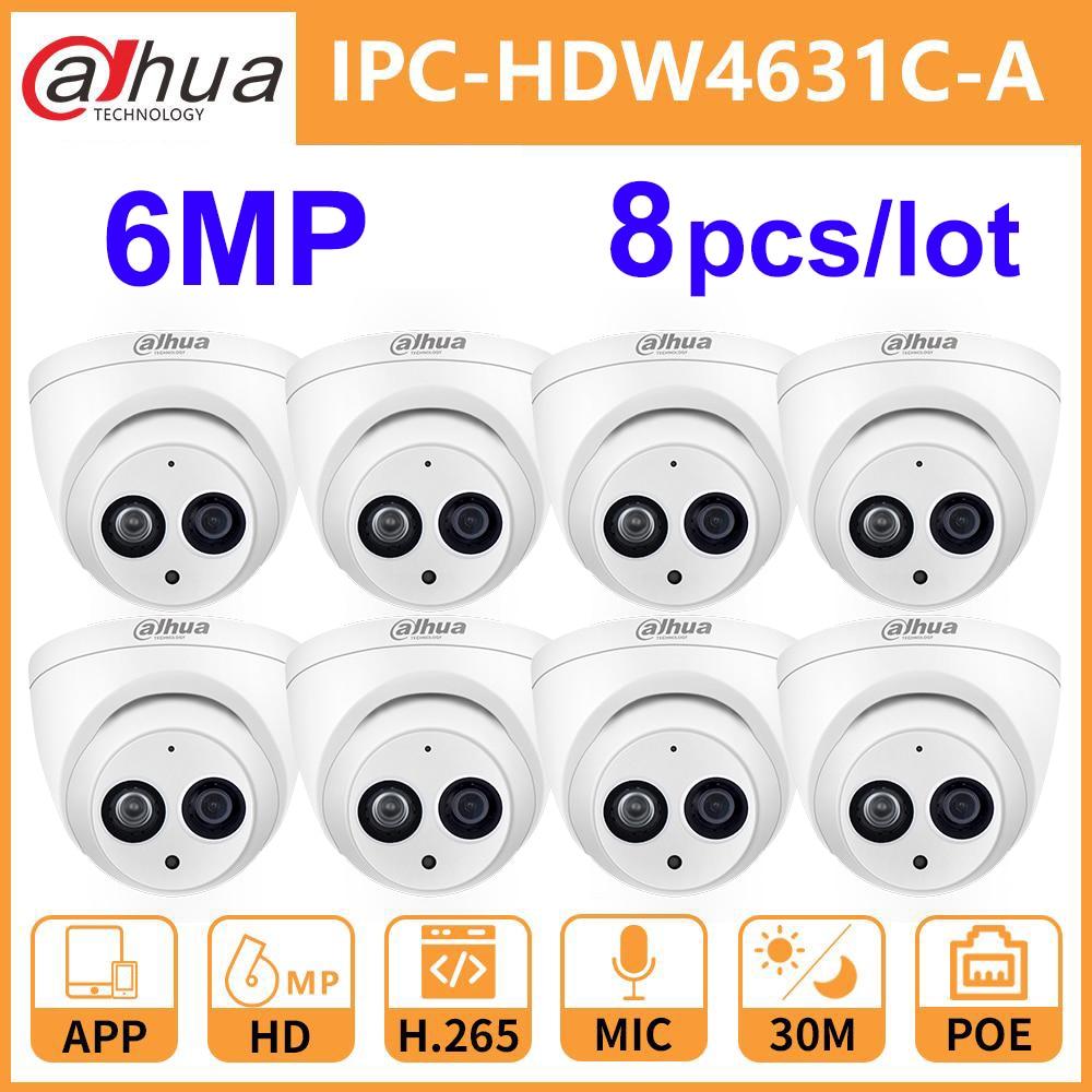 Wholesale 8 Pcs./Lot Dahua 6MP IP Camera IPC-HDW4631C-A H.265 Upgrade from IPC-HDW4431C-A PoE Mini Dome MIC CCTV Camera Security