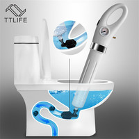 TTLIFE High Pressure Air Drain Blaster Gun Drain Clog Dredge Tools Powerful Toilet Plunger Auger Cleaner for Bathroom Sink