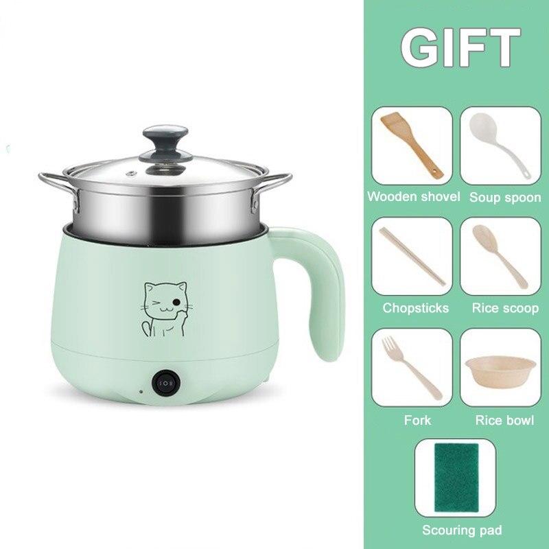חשמלי בישול מכונה ביתי Samll 1-2 אנשים חם סיר רב חשמלי סיר אורז שאינו מקל מחבת משולב 220V
