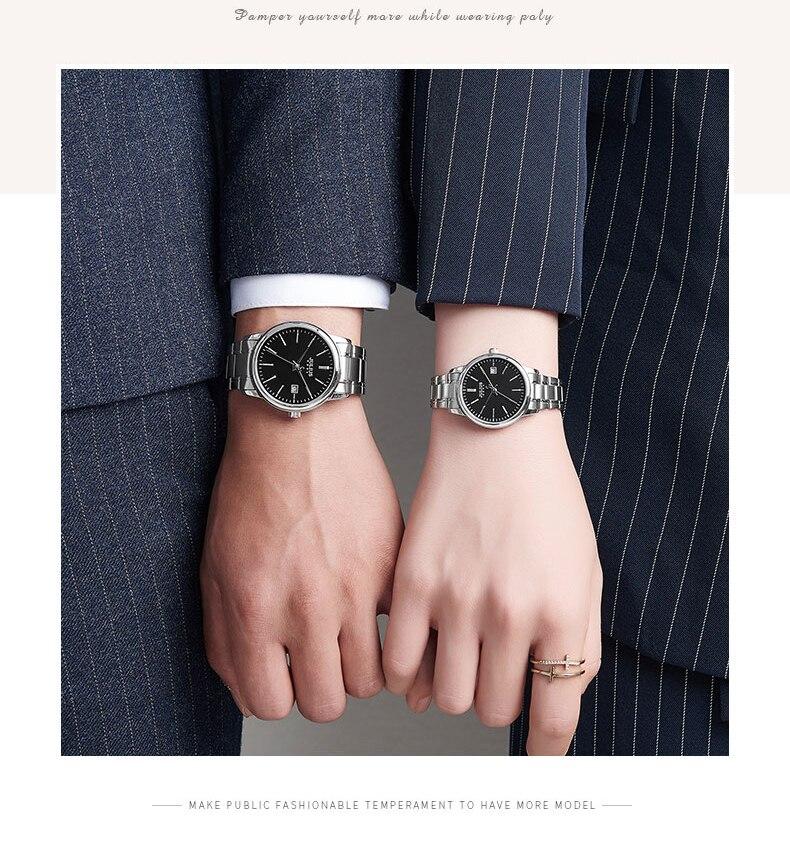negócios relógio de pulso data exibição senhoras