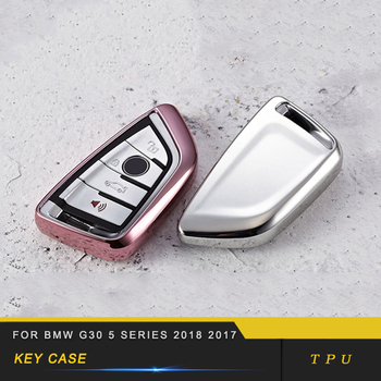 For BMW G30 5 Series 2018 2017 Car TPU Key Cover Case Holder Chain Protector Shell High Quality Pink Red Blue Gold